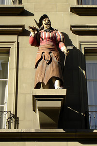 One of the many figurines coming out of the walls of the old town - Bern, Switzerland ... March 4, 2007 ... Photo by Rob Page III