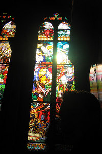 Inside Catedral de St Nicholas - Fribourg, Switzerland ... March 4, 2007 ... Photo by Michael Ruprecht