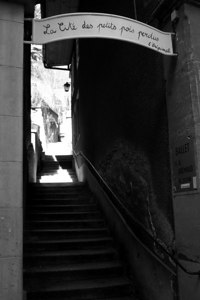 Up the staircase to? - Fribourg, Switzerland ... March 4, 2007 ... Photo by Emily Conger