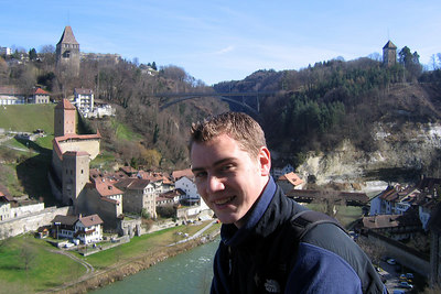Rob enjoying small town Switzerland - Fribourg, Switzerland ... March 4, 2007 ... Photo by Michael Ruprecht