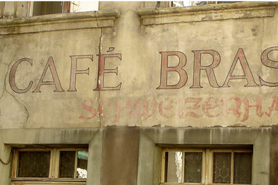 An old cafe - Fribourg, Switzerland ... March 4, 2007 ... Photo by Rob Page III