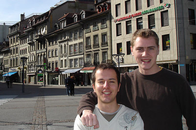 Michael and Rob - Fribourg, Switzerland ... March 4, 2007 ... Photo by Emily Conger