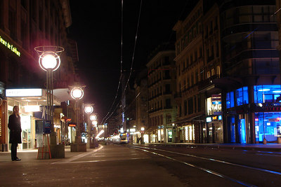 Looking down the Rue de Rhone - Geneva, Switzerland ... March 4, 2007 ... Photo by Rob Page III