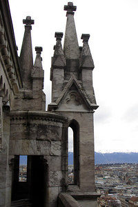 Part of the Cathedral de St Pierre - Geneva, Switzerland ... March 2, 2007 ... Photo by Rob Page III