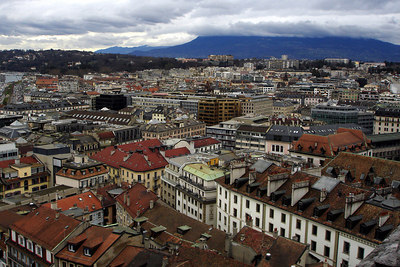 The city spreads out below Cathedral de St Pierre - Geneva, Switzerland ... March 2, 2007 ... Photo by Rob Page III