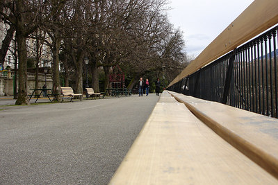 The world's longest bench - Geneva, Switzerland ... March 2, 2007 ... Photo by Rob Page III