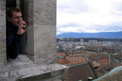 Rob the Gargoyle - Geneva, Switzerland ... March 2, 2007 ... Photo by Michael Ruprecht