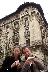 Emily and Michael exploring the city - Geneva, Switzerland ... March 2, 2007 ... Photo by Rob Page III