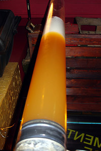 The 3L column of beer at Les Brasseurs - Geneva, Switzerland ... March 1, 2007 ... Photo by Rob Page III