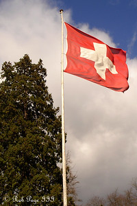 The Swiss flag - Murten, Switzerland ... March 3, 2007 ... Photo by Rob Page III