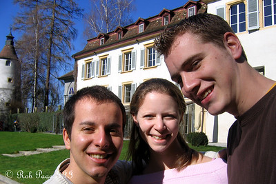 Michael, Emily, and Rob at the Munchenwiler castle - Murten, Switzerland ... March 4, 2007 ... Photo by Rob Page III
