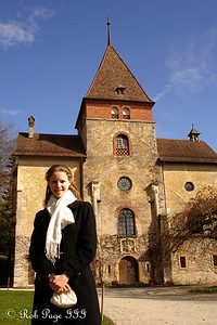 Emily and the Munchenwiler Castle - Murten, Switzerland ... March 3, 2007 ... Photo by Rob Page III