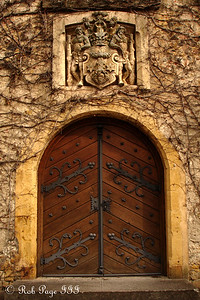 The main doors to the Munchenwiler Castle - Murten, Switzerland ... March 3, 2007 ... Photo by Rob Page III