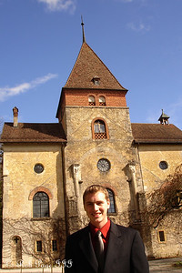 Rob and the Munchenwiler Castle - Murten, Switzerland ... March 3, 2007 ... Photo by Emily Conger
