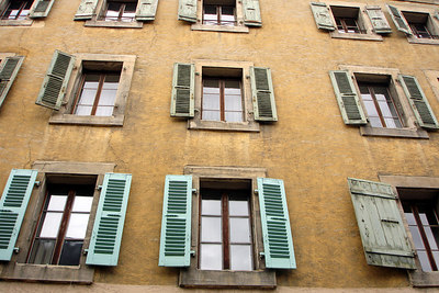 Windows in the Old Town - Geneva, Switzerland ... March 2, 2007 ... Photo by Rob Page III