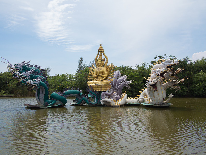 Bodhisattva Avalokitesavara (kuan-Yin) Performing a Miracle in Ancient Siam
