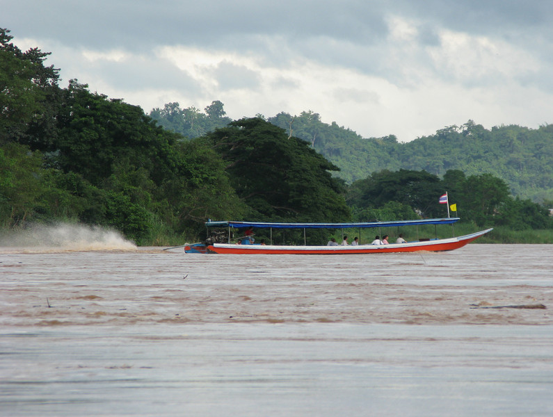 Tour boat on the Mae Kong River - Golden Triangle of Thailand, Loas and Myanmar