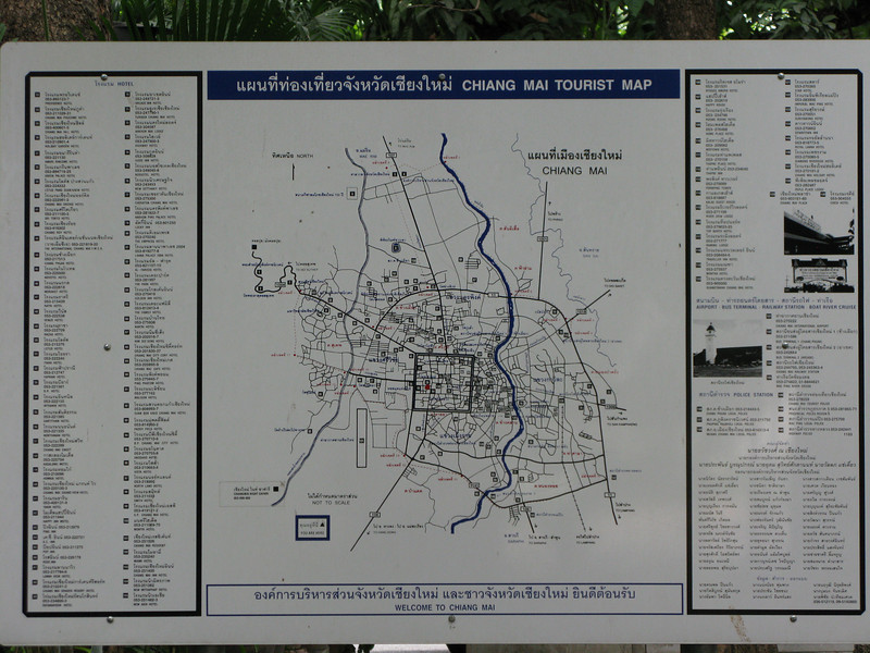 Chiang Mai Tourist Map at Wat Praising