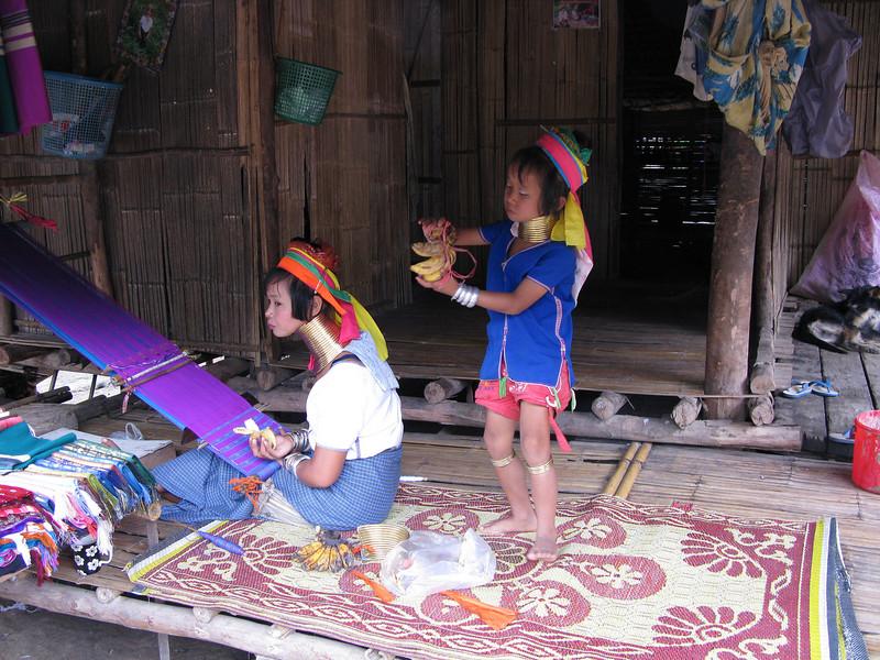 Padong mother and daughter ...