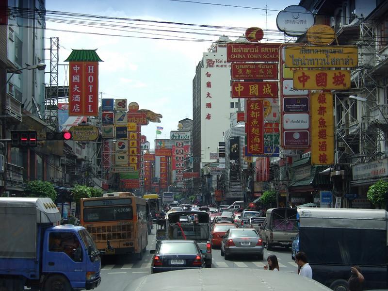Chinatown Traffic in Bangkok