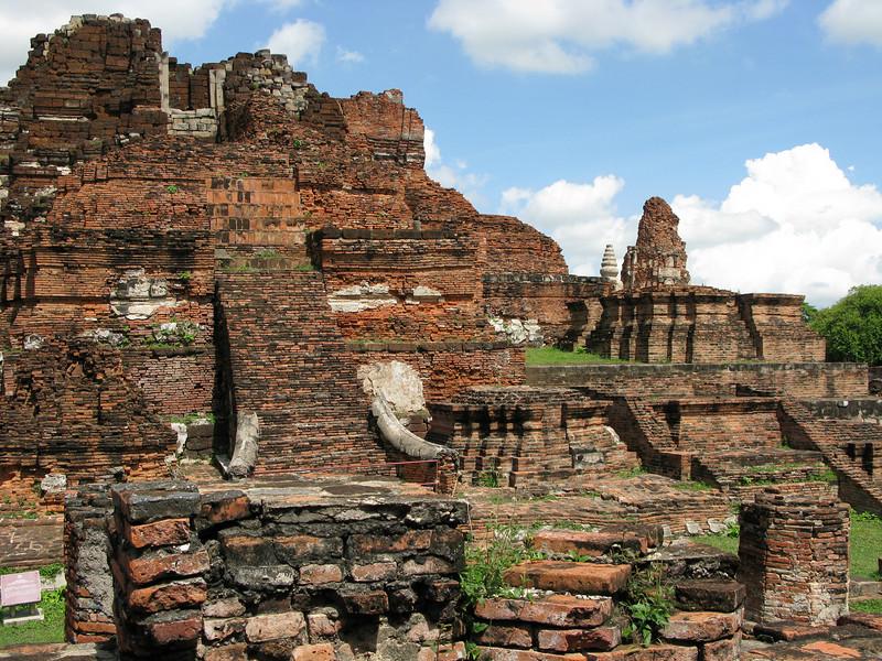 Ruins at Ayutthaya - 2nd Capital of Thailand  1350 - 1767 AD