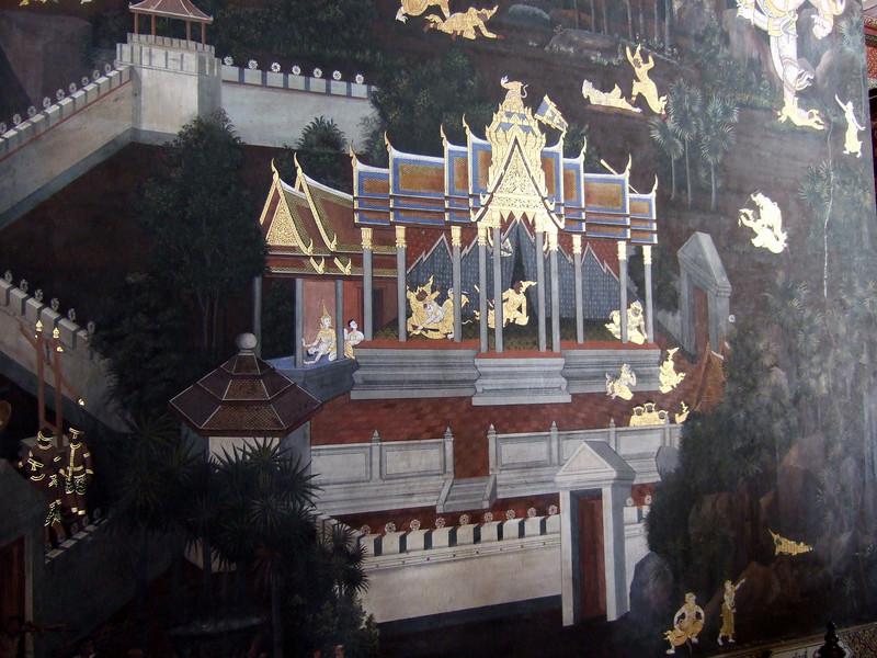 Wall decoration at the Grand Palace