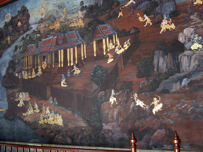 Wall decorations at the Grand Palace