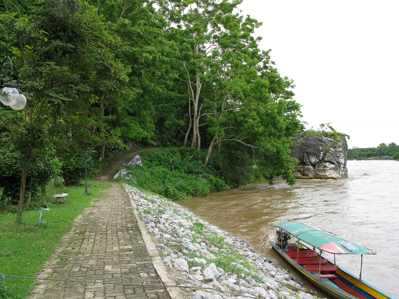 Docking on the Maekok River at the Monk's Cave