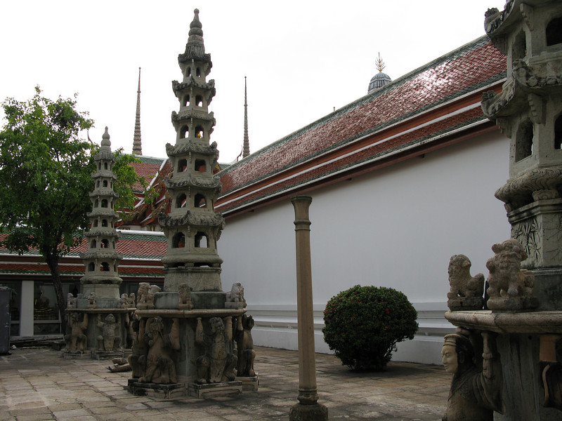 Architectural details at Wat Po
