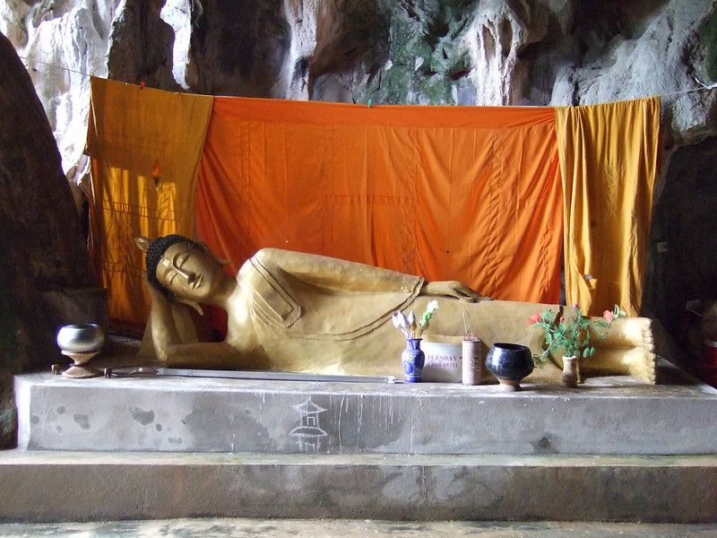 Reclining Budda Image in the Monk's Cave