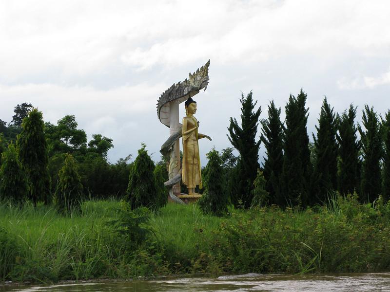 Budda Image on the Mae Kong River near Myanmar