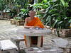 Monk studying at Wat Praising