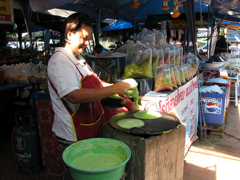 Market vendor outside Ayutthaya - 2nd Capital of Thailand