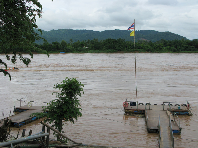 Docks for boat rides on the Mae Kong River