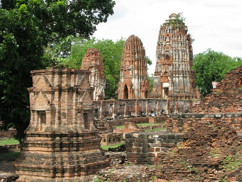 Prangs at Ayutthaya