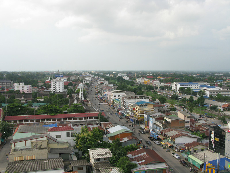 City view from the Topland Plaza Hotel in Phitsanulok