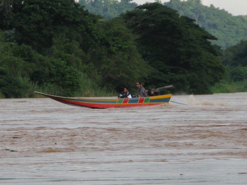Speed boat on the Mae Kong River