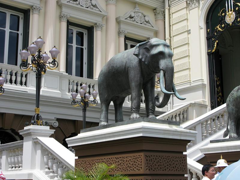Elephant guarding Grand Palace entrance
