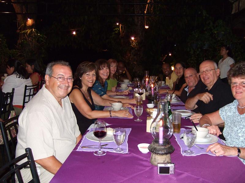 Andy, Robyn, Susan, Kathleen, Sharifa, Raheem, Ketsara, Martin, Lenny and Kathleen .. the Farewell dinner at the Gallery Resturant