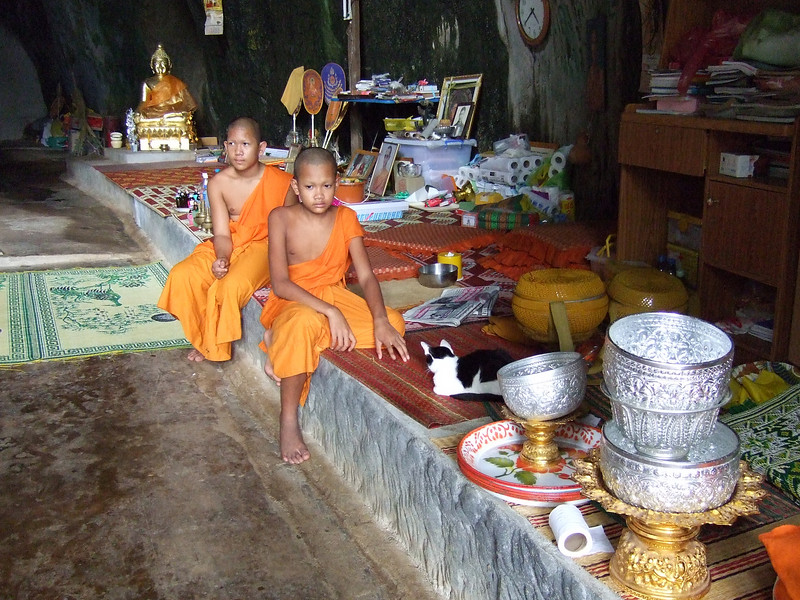 Apprentice Monks in the Monk's Cave