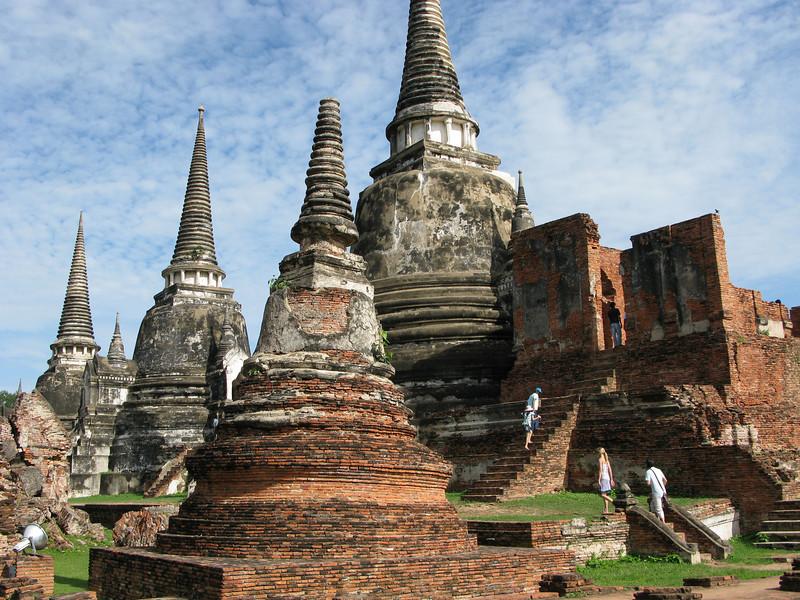 Prangs and Stups at Ayutthaya  1350 - 1767 AD