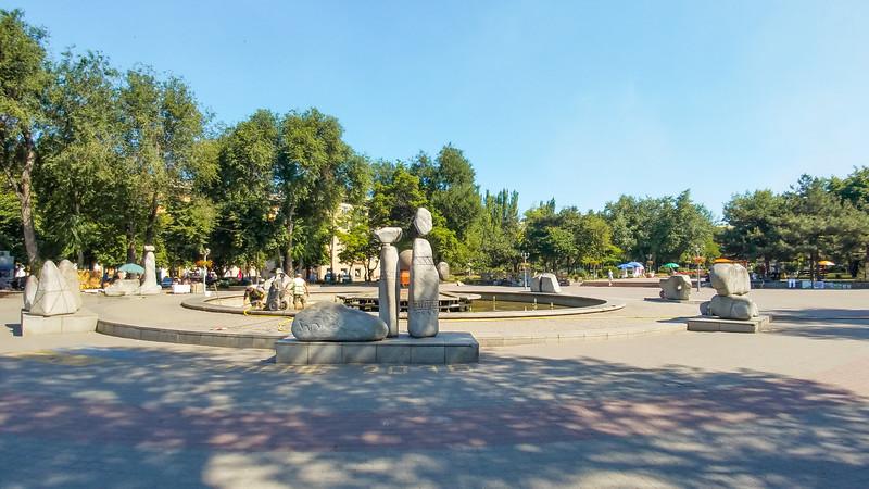 Metalurhiv Park in Zaporozyhye, Ukraine.