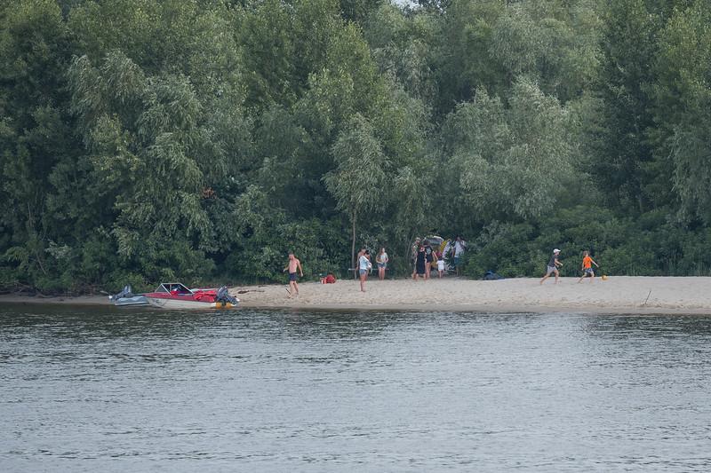 Summer fun on the Dneiper River between Kremenchug and Kiev, Ukraine.