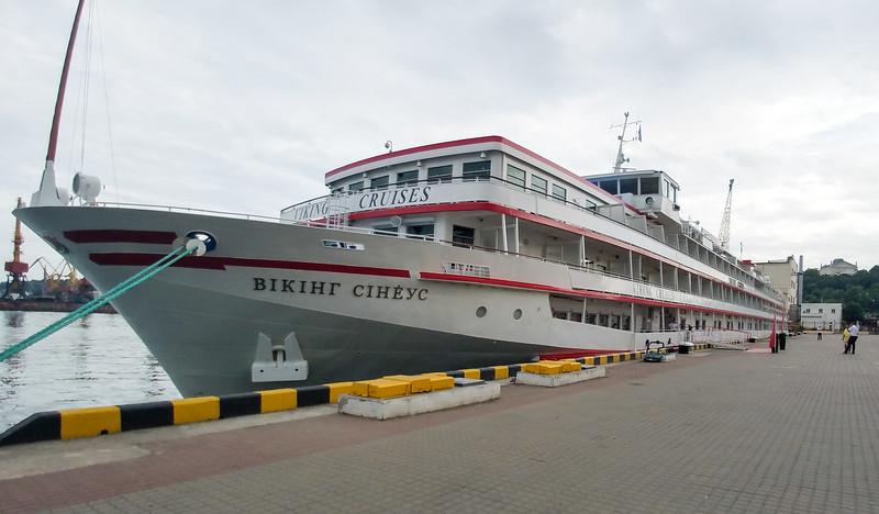 Viking Sineus in Port, Odesa, Ukraine.