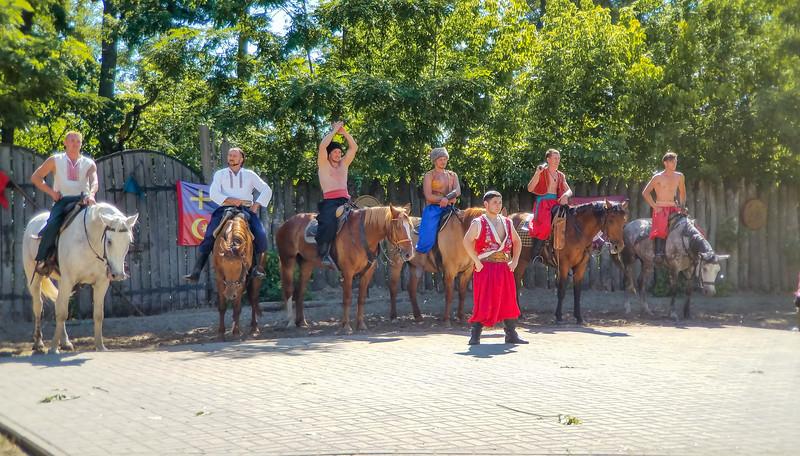 Group appearance after the show on Kortitsa island.