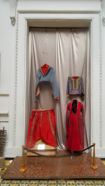 Examples of early Ukrainian dress in the Dnipropetrovsk Natural History Museum in Dnipro, Ukraine.