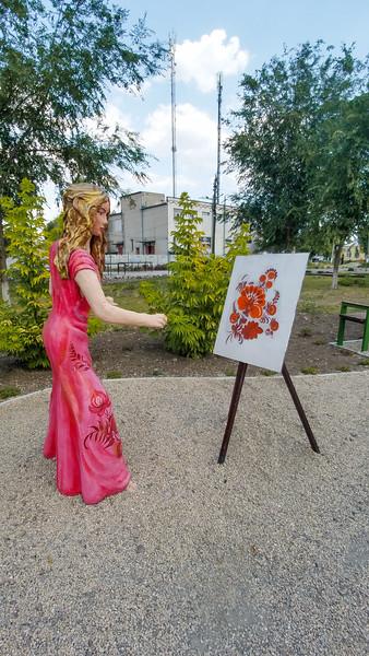 In an Artist's Exhibition Park near the Petrykivka Folk Art Center outside Dnipro, Ukraine.