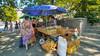 Street sellers in Kherson, Ukraine.