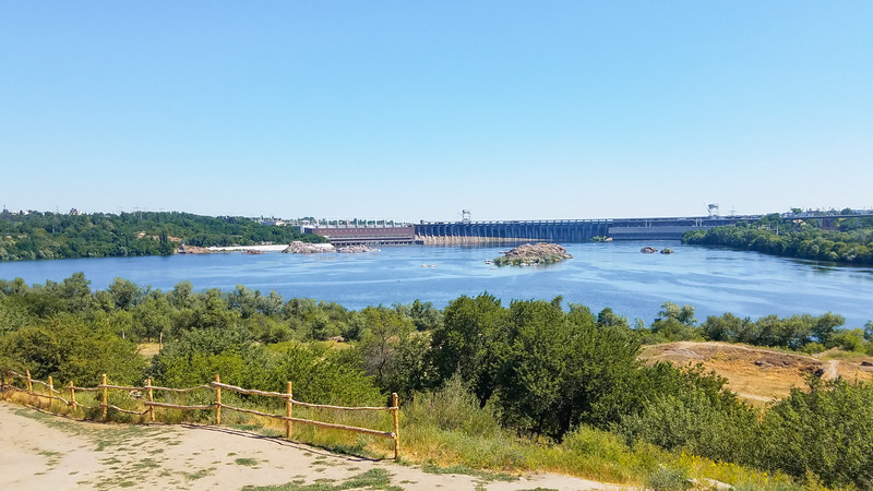 Dneprostrol Hydo-Electric Plant in Zaporozhye, Ukraine.