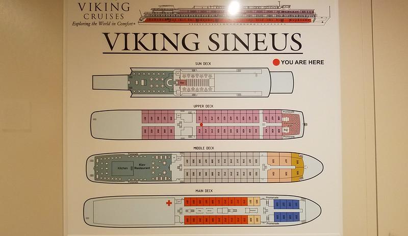 Deck plan of the Viking Sineus.